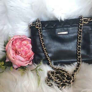Rebecca Minkoff black quilted crossbody purse